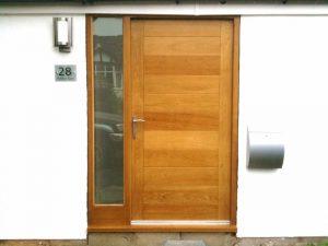 brown wooden door a better option that uPVC