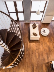 Curve stairs in spacious living room iStock_000068398333_Small
