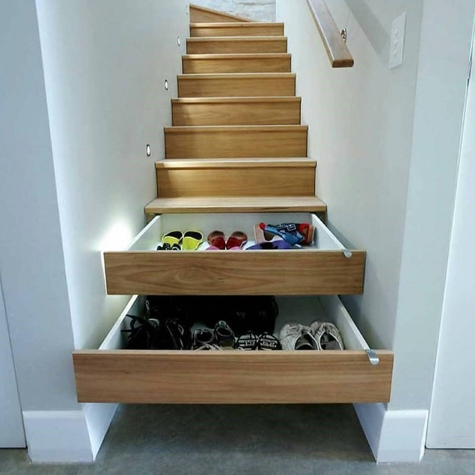 Drawers Under Steps