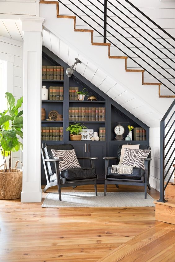 Under Stair Book Nook