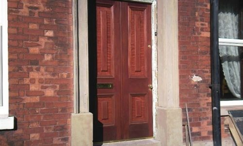 Dark Red Meranti Door
